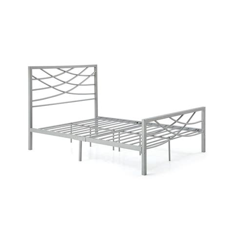 queen bed rails for headboard and footboard hodedah complete metal charcoal full bed with headboard