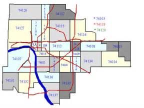 Oklahoma Zip Code Map by Similiar Map Of Oklahoma And Tulsa And Surrounding Areas