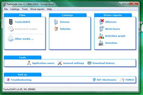digital card software digital tachograph software driver card vu reader system