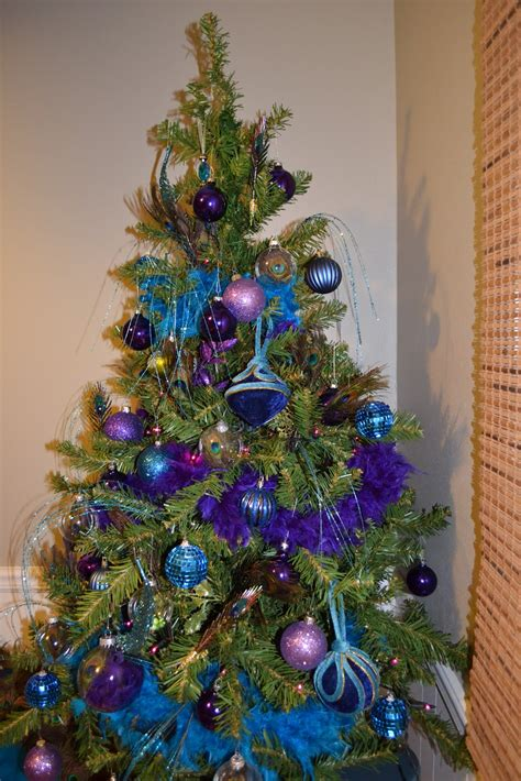 what you make it peacock themed christmas tree