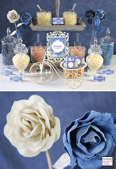 Denim Decorations by Free Birthday Printables Designed Exclusively For