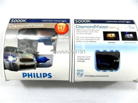 Lu Halogen Philips Blue Vision philips h7 vision 5000k 55w headlight bulbs ebay