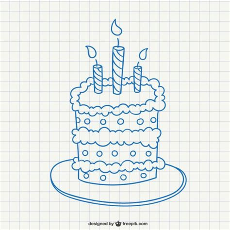 free vector birthday doodle birthday cake doodle vector free