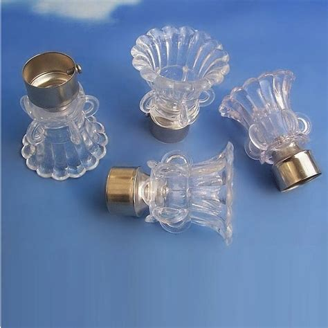 crystal curtain rod finials 2 inch crystal curtain rod finials