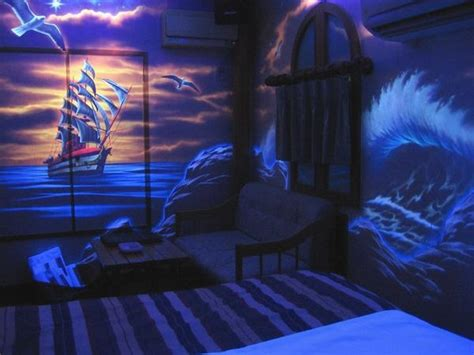 Wall Murals Wallpaper Cheap the room by black light photo