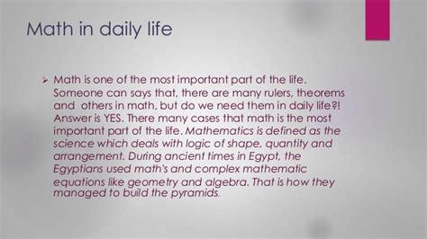 essay on mathematics in daily life mathematics everywhere everyday