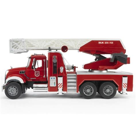Bruder Mack Truck With Ladder And Water bruder mack granite engine smart toys
