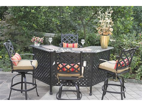 Wrought Iron Patio Bar Set Modern Patio Outdoor Patio Furniture Bar Set