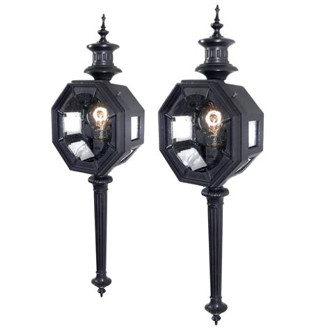 Carriage Light Fixtures Large Carriage Lantern Style Sconces At 1stdibs