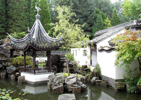 chinesischer garten gartenpavillon und der chinesische garten