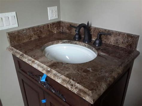 emperador marble vanity top chicago instalation ldk