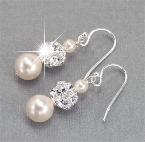 Hochzeit Ohrringe by Wedding Earrings Pearl Dangle Earrings Wedding Jewelry For