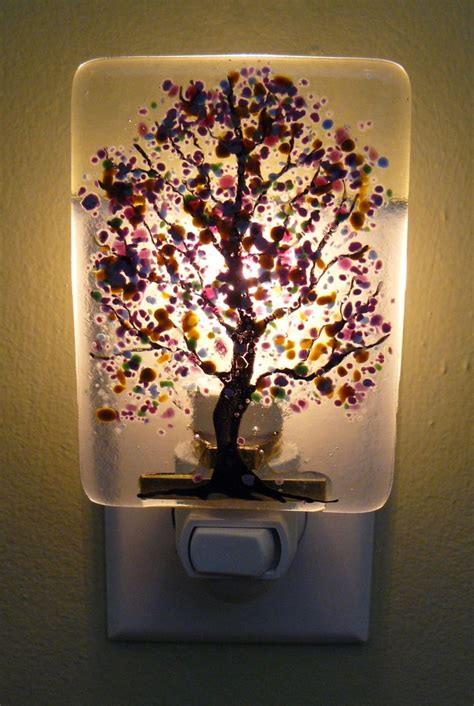 fused glass night lights 17 best images about fused glass nightlights on