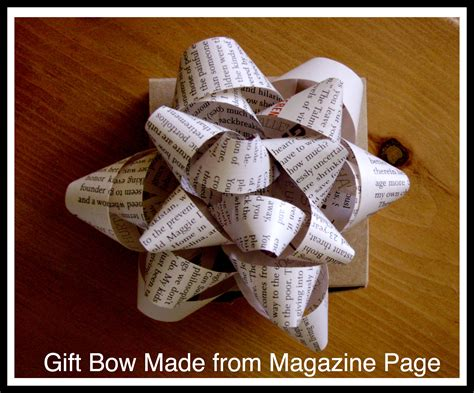 Handmade Gift Bows - how to make a bow from a magazine page green