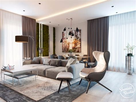 Open Floor Plan Living Room Inspiring Modern Open Plan Living Room In Minsk