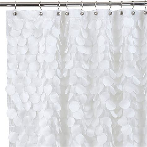 white cloth shower curtain buy gigi 72 inch x 72 inch fabric shower curtain in white