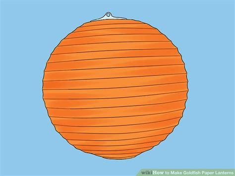 How To Make Lanterns Out Of Paper - how to make goldfish paper lanterns with pictures wikihow