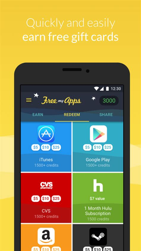 How To Add Google Play Gift Card - freemyapps gift cards gems android apps on google play