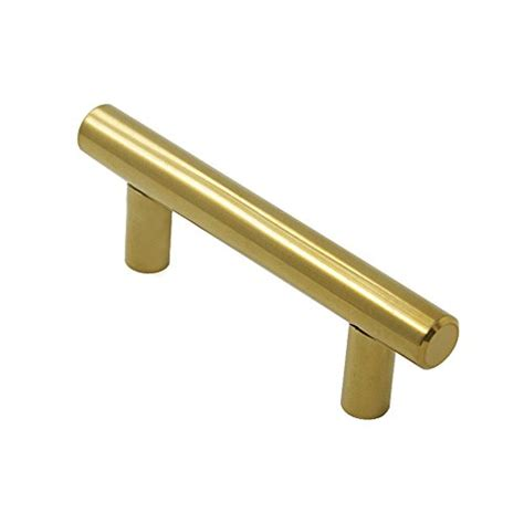 gold t bar drawer pulls probrico brushed brass modern cabinet hardware kitchen