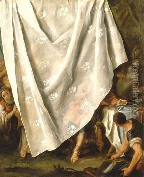 paintings of curtains the meeting of alexander the great and roxana behind a