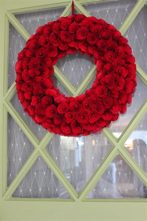 target wreaths home decor love my new red wreath on my green door smith and hawken