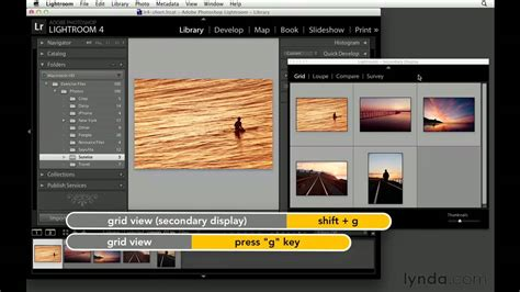tutorial adobe lightroom youtube working with photoshop lightroom on two monitors lynda