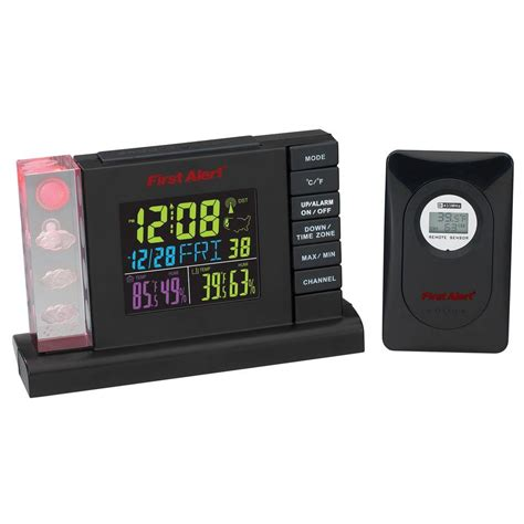 alert radio controlled weather station alarm clock