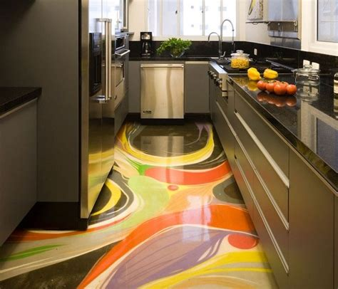 Epoxy Flooring Kitchen Best 3d Flooring Images With Epoxy Coating For Kitchens 2018