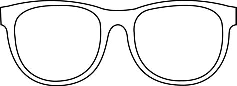 coloring page sunglasses 6 best images of sun glasses outline printable sunglasses