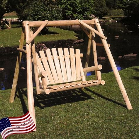 swing life style log in outdoor log swing home design garden architecture