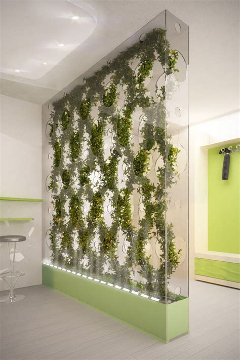 Plant Partition | green partition cleans the air in your home tuvie