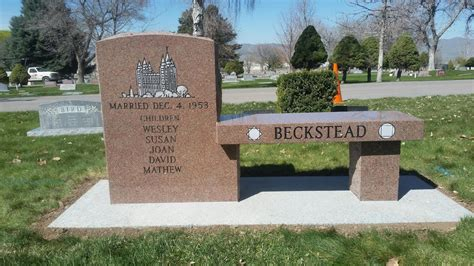 bench grave markers benches beesley monument granite headstones grave