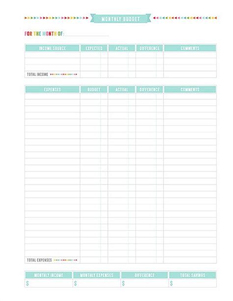 home budget plan 20 free printable monthly budget planners kitty baby love