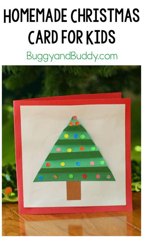 christmas crafts  kids homemade christmas card buggy