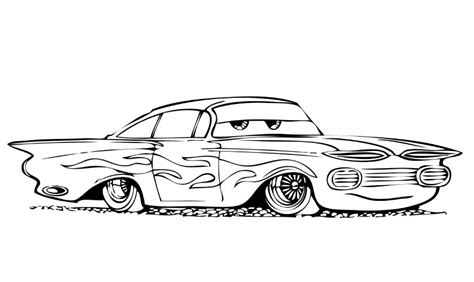 black and white coloring pages of cars kleurplaten cars