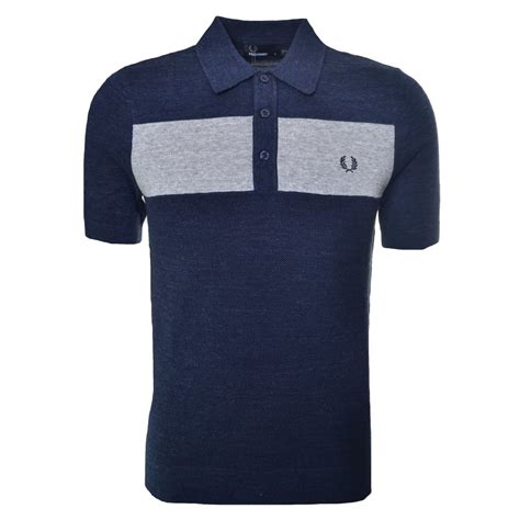 Cressida Shirt Chest Panel Grey fred perry s grey chest panel polo shirt