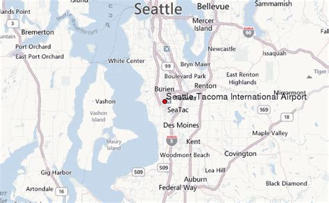 seattle map with airport seattle tacoma international airport location guide