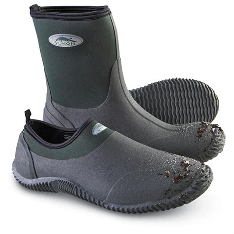s yukon muck shoes green 118437 rubber