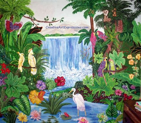 rainforest wall mural rainforest wall mural creative expressions