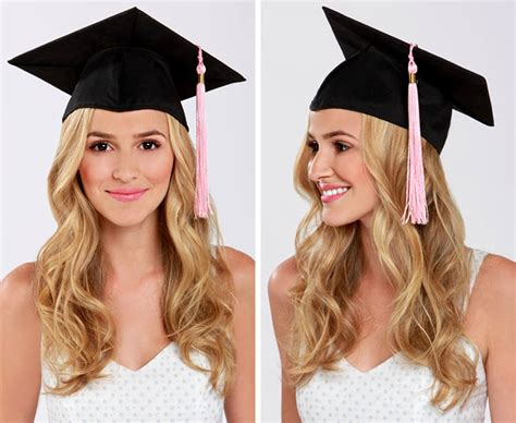 Rounded Graduation Hairstyle by Lulu S How To Graduation Cap Hair Tutorial Lulus