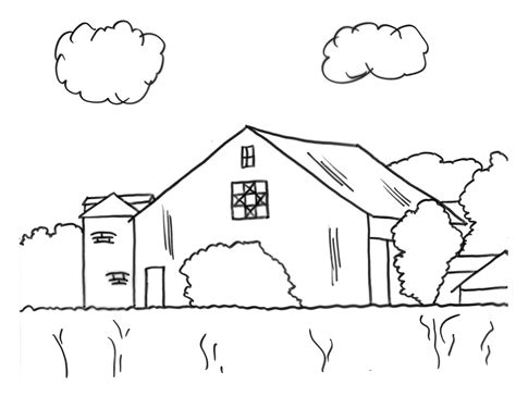 scheune malvorlage barn coloring pages 2737