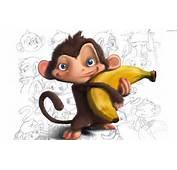 Małpa Banan Na Pulpit