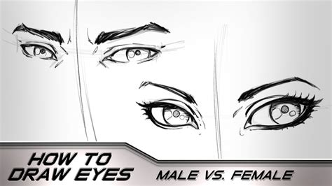 male vs female eyes how to draw eyes male vs female step by step narrated