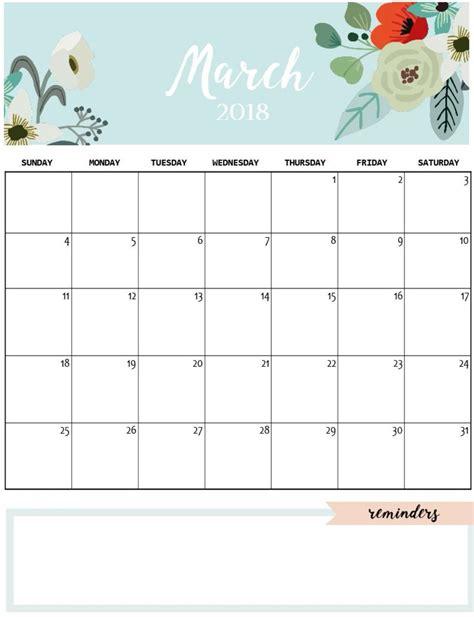 printable monthly planner cute cute march 2018 calendar to print printable calendario
