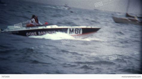boat racing videos super 8 vintage speed boat racing competition stock