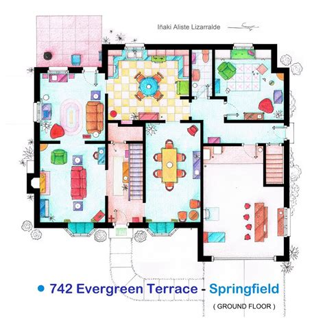 simpsons floor plan gallery of from friends to frasier 13 famous tv shows