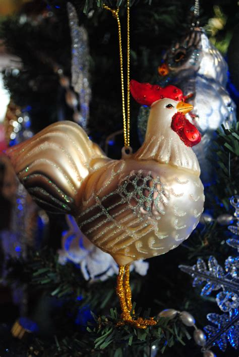 chicken ornaments decorating for the holidays my pet