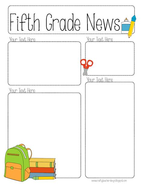 Completely Editable Newsletter For All Grades The Crafty Teacher Letter Editable Template