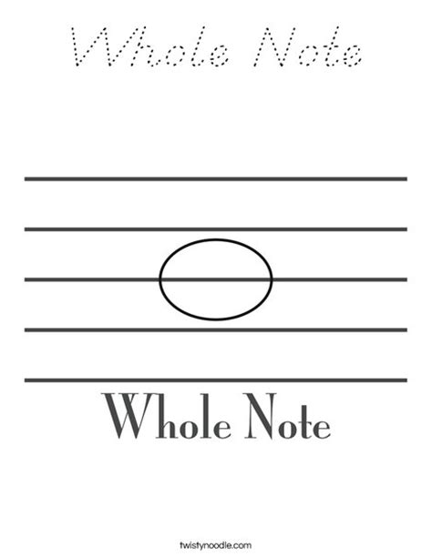 print this coloring page itll print full page whole note coloring page d nealian twisty noodle