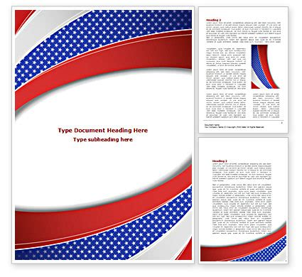 theme template elections theme word template 08290 poweredtemplate